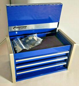 Snap-On ™ Midnight Blue Miniature Mini Upper Top Tool Box Drawers Small Cabinet