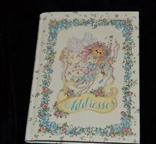 Vintage LUCY RIGG Address Book Gold Edge TEDDY BEAR ANGELS Gibson 5 7/8 x 4 3/8