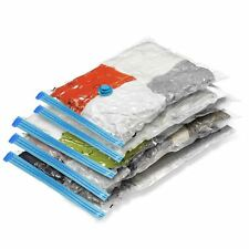 6PK Vacuum Storage Bags Space Save Zip Seal Compressed Air Tight Clothes Bedding