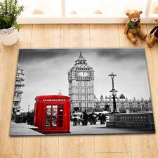 "London Street Red Phone Booth Non-Slip Home Docor Bathroom Mat Rug Carpet 24x16"""