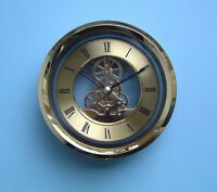 120mm GOLD SKELETON QUARTZ CLOCK  insert movement