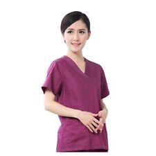 Summer Women Nurse Uniform Doctor Dentist Tops Shirts Hospital Scrub Tunic