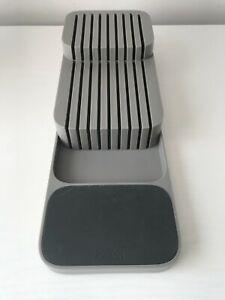 Joseph Joseph DrawerStore Knife Organiser, Compact 2 Tier Design For Knives grey