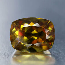 Hot Red Flashes_2.42 cts_Golden Brown Hue_Cushion Cut_Pakistan Sphene_BC2417
