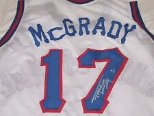 TRACY MCGRADY AUTOGRAPHED CUSTOM BASKETBALL HALL OF FAME JERSEY-RARE JERSEY