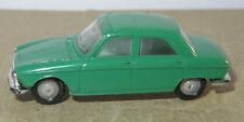 K old made in france 1966 micro norev oh 1/87 peugeot 204 dark green #532