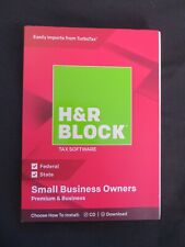 H & R Block Small Business Owners Premium & Business 2018 Windows Federal State