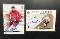 2019-20 SP AUTHENTIC 2 Card TOM WILSON AUTO LOT💪🔥SIGN OF THE TIMES & LIMITED🔥