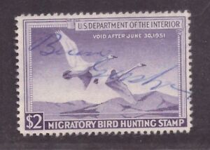 US Scott RW17 Used with Signature