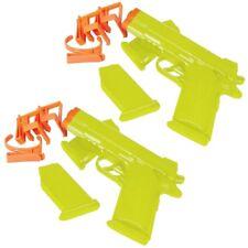 Conjunto de dos 2 armas pistolas de agua recargable con cinturón Clips & paquetes de munición R05-008