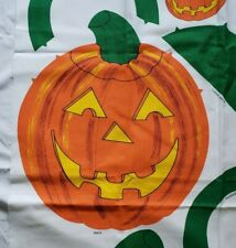 JOL Pumpkin Halloween Trick or Treat Bag Fabric Panel