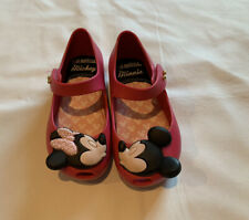 Mini Melissa Ultragirl Minnie Mickey Mouse Pink Size 8 Mary Jane