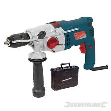 HEAVY DUTY SILVERLINE ELECTRIC 1050W IMPACT HAMMER DRILL DRIVER SCREWDRIVER