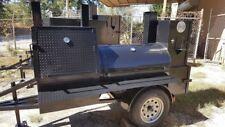 Mini Hogzilla Mobile Bbq 24 Grill 4 Barrel Smoker Trailer Food Truck Concession