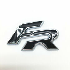 FR Badge Emblem Sticker Black Seat Cupra Ibiza Leon Car Rear Boot