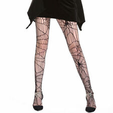 Halloween Women Tights Stockings Spider Web Black Sexy Fancy Dress Hold Ups Hot