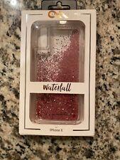 Case-Mate iPhone X XS Case WATERFALL - Cascading Liquid Glitter - Pink OEM NEW