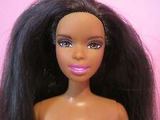 Christie Asha Barbie Doll Black African AA Purple Ballerina Legs, Nude for OOAK