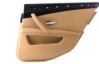 BMW 5 Series E60 E61 LCI Rear Right O/S Door Card Lining Cloth Panel Beige