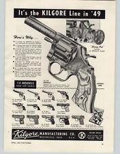1949 PAPER AD Kilgore Toy Cowboy Cap Gun Bronco American Ranger Long Tom Pistol