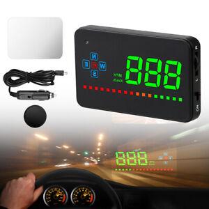 Auto GPS Digital Tachometer Head-Up Display HUD Überdrehzahl Müde Warnalarm