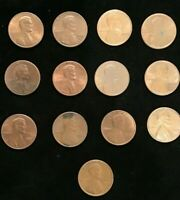 USA   - Lincoln - One Cent Collection - 1 Cent Coin - America - USA 13 Pieces.