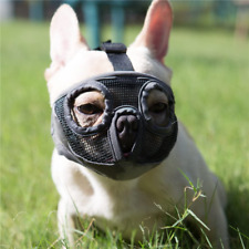 Jyhy Short Snout Dog Muzzles- Adjustable Breathable Mesh Bulldog Muzzle