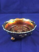 Vintage Fenton Butterfly and Berries Carnival Glass Small Berry Bowl Rainbow