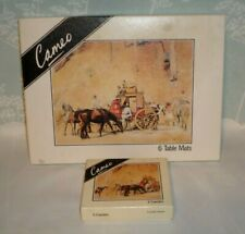 Vintage Cameo 6 Table Mats & 6 Coaster Sets Australian Masters Australiana
