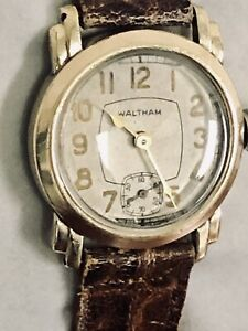 Vintage1930's Waltham Art Deco Watch With 21 Jewel Riverside Movement Running
