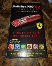 Brand New Babyliss Pro X2 Volare Ferrari Designed  Hair Clipper FXF811 Red!