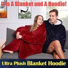 Ultra Plush Blanket Hoodie Comfy Giant Sweatshirt Huggle Fleece Warm With Hooded