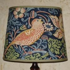 William Morris Strawberry Thief - Small Handmade Oval Lampshade Table Lamp