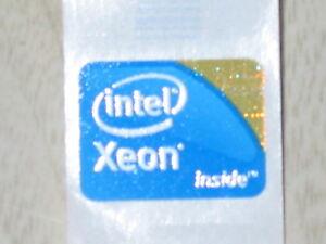 New Genuine Intel Inside Xeon logo sticker 18mm x 24.5mm Label USA Seller