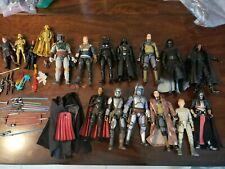 Star Wars The Black Series Figure Lot Of 17 ,ult. Boba, maul, mando, jango,raven