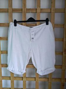 NEW Dorothy Perkins White Shorts Linen Blend Size 14 (80)