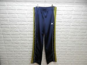Vintage Adidas Track Pants Blue Yellow Athletic Youth XL 18
