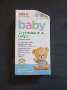GNC Milestones Baby Vegetarian DHA Drops Babies & Children Unflavored 1.1 Oz @6