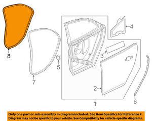 Chevrolet GM OE 13-15 Malibu Rear Door-Weatherstrip Seal on Body LH 25911999 Up