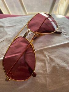 vintage cartier vendome santos men sunglasses frame with original diamond stone