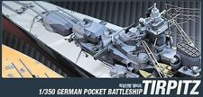 Academy 1/350 German Pocket Battleship Tirpitz Ship Plastic Model Kit #14111