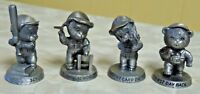 Lot Of 4 Vintage Pewter Figurines Avon Benjamin Bearington Bear Figures