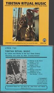 Tibetan Ritual Music Cd Lamas And Monks Of The Four Great Orders Peter Crossley