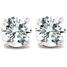 1/3 CT. T.W. Genuino Diamante Blanco Oro Blanco O Amarillo Tachas 14K