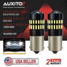 AUXITO 1156 BA15S 7506 LED Back up Reverse Brake Parking Light 6000K White Bulb