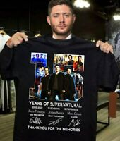Supernatural 15 Years T-shirt All Cast Signed Tee Shirt Size S-5XL