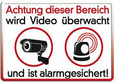 Video überwacht Funschild Fun Schild Blechpostkarte Blechschild 10,5 x 14,8 cm