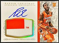 2015 National Treasures Rakeem Christmas On-Card Auto RC RPA 4/10 GOLD Syracuse