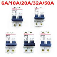 2 Pole 2P 6A/10A/20A/32A/50A Miniature Circuit Breaker 400V DC System Appliance