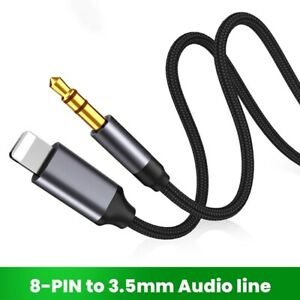 8 Pin To 3.5mm Jack AUX Cable Headphone Adapter Audio Extension Cable For iPhone